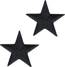 """3//4/"""" ONE DOZEN-12 Embroidered Iron On Patches Stars White//Gold Metallic"""