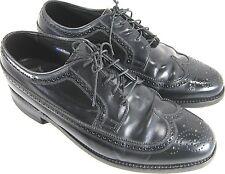 Florsheim Vintage Men Shoes Wing Tip Leather Men Oxford  Size 9 EEE Black .