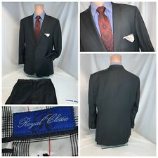 Tom James Royal Classic Suit 42R Gray 2B2V 35x29 FF Func Cuffs Bespoke YGI D0-74