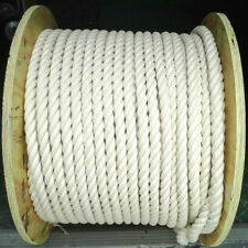 "1"" thick 100% Natural Cotton Twist Rope Sold By the Foot for Bird Toys Crafts"