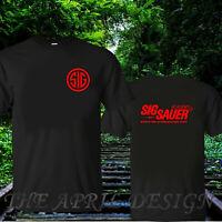SIG Sauer Academi fire arms logo T-shirt sz S-XXL