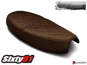 Triumph Bonneville Seat Cover 2000-2014 2015 Dark Brown Leather Look Luimoto