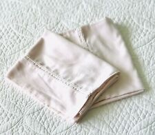 Yves Delorme Pair Triomphe Pink Cotton Sateen Pillowcases ~ EUC Cottage