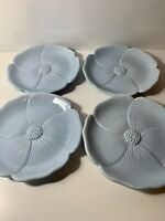 BRAND NEW IN BOX - Set 4 Enesco Country Gate - Floral Tranquil Blue Salad Plates