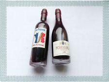 Lot de 2 Aimants Magnets Bouteilles de  Vin Rouge