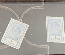 1891 Revenue Stamps One Centavo Blue
