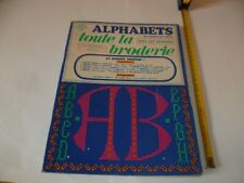 (F1) TOUTE LA BRODERIE N°8 HS 1973 ALPHABETS AU POINT DE CROIX