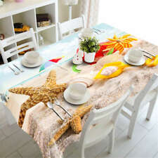 Fragile Starfish 3D Tablecloth Table cover Cloth Rectangle Wedding Party Banquet