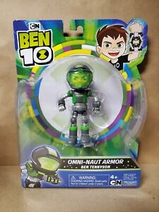 "BEN 10 2020 CARTOON NETWORK OMNI-NAUT ARMOR BEN TENNYSON 4"" ACTION FIG. NEW! HTF"