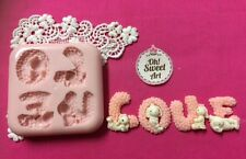 Valentines Sweet LOVE silicone mold fondant cake decorating cupcake food FDA
