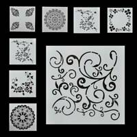 7 x Craft Embossing Template Wall Painting Layering Stencil Scrapbooking DIY