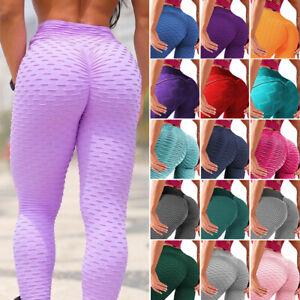 Women Anti Cellulite Gym Pants Fitness High Waist Yoga Leggings Push Up Trousers