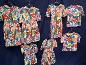 Hawaiian Luau Costume Dress Shirts Floral Lot Of 7 Asst Sizes