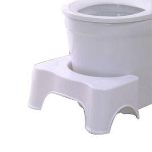 """7"""" High Bathroom Toilet Footstep Stool Poop Squat Healthy Ergonomic Relief Kid"""