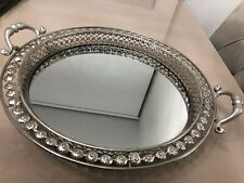 Silver Effect Large Mirror Tray
