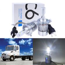 120W Bright White LED Headlight Lamps Bulbs Kit For Hino 145 165 185 258 268 338