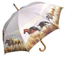 "48"" Wild Horses Auto-Open Umbrella  - RainStoppers Rain/Sun UV Fashion"
