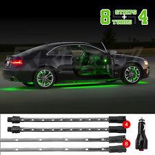GREEN PREMIUM 12pcs LED UNDERCAR+INTERIOR LED NEON ACCENT LIGHT KIT 3PATTERN