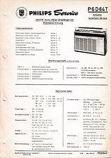 Manuel d'instructions service pour Philips P6 D64 T, Annette automatique