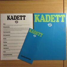 OPEL Kadett L LS GL SR Folleto de mercado del Reino Unido + + Colores y recortar 1979 especificación