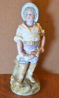 Gebruder Heubach Antique Vintage Porcelain Bisque Large GERMAN fishing lobster