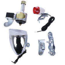 Bike Bicycle No Batteries Needed Safety Dynamo Light Rear Headlight Set SILVER
