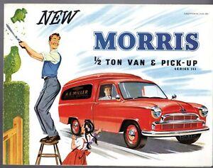 Morris Oxford Series III Half Ton Van & Pick-Up 1956-60 UK Market Brochure
