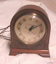 1930'S Vintage Hammond Clock Chancellor Wood Beehive Synchronous - See Desc.
