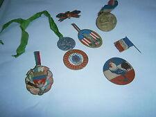 Lot de 8 médailles insignes guerre 14 18  Journée Paris et IDF WWI poilu coq