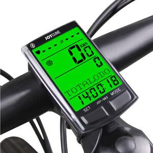 Bluetooth Bicycle Bike LCD Digital Computer Speedometer Odometer Multi Function