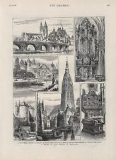 OLD ANTIQUE 1881 ENGRAVING PRINT VIEWS FROM A TOUR IN THE SOUTH OF HOLLAND b155