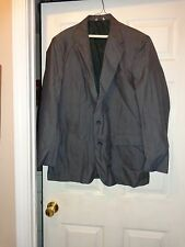 HUNT VALLEY Gray Wool Blend Suit Jacket w/ Pinstripes Size 44L - NICE!