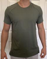 Lululemon Mens Size L Pulse Motivation SS Green MEOL Short Sleeve Metal 5 Year