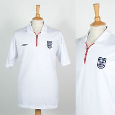MENS UMBRO ENGLAND FOOTBALL SHIRT SOCCER JERSEY POLO T-SHIRT ZIP NECK RETRO XL