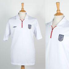 MENS UMBRO ENGLAND FOOTBALL SHIRT SOCCER JERSEY POLO T-SHIRT ZIP NECK RETRO XL