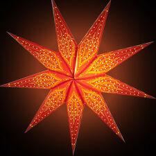 Sternenlicht Papierstern Stern Leuchtstern Faltstern Mehandi 9Zack NEU!