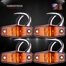 4 x LED Light 2Diode Amber Surface Mount Clearance Side Marker Trailer Lamp