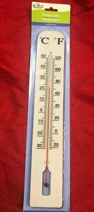 """16"""" LARGE INDOOR OUTDOOR WALL THERMOMETER Weather Resistant Hanging Analog Gauge"""