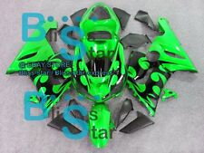 Green Glossy INJECTION Fairing Bodywork Plastic Set Kawasaki ZX-6R 05-06 44 CC