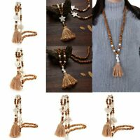 Women Bohemian Tassel Pendant Necklaces Long Chain Sweater Necklace New Arrival