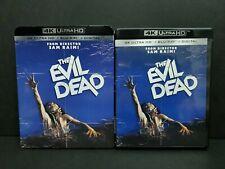 The Evil Dead (4K UHD, Blu-ray) w/ OOP Rare Slipcover. Ultra HD. Sam Raimi