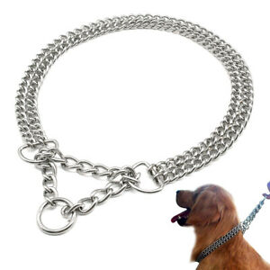 2.5-3mm Martingale Dog Chain Choke Collar for Pet Training Show Necklace Boxer