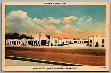 Postcard Amarillo TX c1940s Grande Tourist Courts Route 66 Highways 60-66-87-287