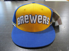 NEW Milwaukee Brewers Baseball Hat Cap Fitted Size 7 1/8 Blue American Needle
