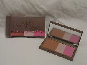 Urban Decay Naked Flushed 'Native' Cool Pink Blush Highlight Bronzer Trio NIB