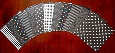 "Assorted PATTERNED BLACK Scrapbooking Papers x 12 ~ 15cm x 15cm ~  (6"" X 6"")"