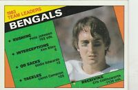 FREE SHIPPING-VG-1984 Topps #32 Cincinnati Bengals Cris Collinsworth TEAM LEADER