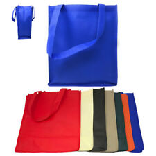 3 Pack Reusable Grocery Shopping Tote Bag Bags With Gusset Eco Friendly 13x15