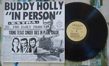 Buddy Holly LP In Person Vol. II Rarities Crickets Vintage Newscasts Mint-/Mint-