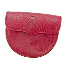 Cartier Wallet Purse Coin Purse Mastline Red Woman unisex Authentic Used T5216